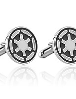 cheap -Circle Silver Cufflinks Alloy Simple Fashion Dresswear Daily Formal Men's Costume Jewelry
