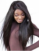 cheap -Lace Front Silky Remy Straight Wig Brazilian Virgin  Hair  With Baby Hair Glueless Lace Wigs For Black Women