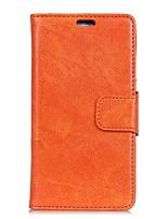 Недорогие -Кейс для Назначение Sony Xperia E5 Кошелек Бумажник для карт с окошком Флип Чехол Сплошной цвет Твердый Искусственная кожа для Sony