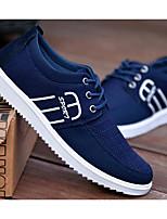 Недорогие -Для мужчин обувь Полотно Весна Осень Удобная обувь Кеды для Повседневные Черный Желтый Синий