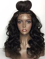 Недорогие -Женский Парики из натуральных волос на кружевной основе Бразильские волосы Натуральные волосы Бесклеевая сплошная кружевная основа 130%