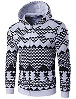 cheap -Men's Daily Sports Hoodie Print Hooded Micro-elastic Polyester Long Sleeve Spring/Fall