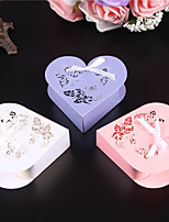 cheap -Heart Shape Pearl Paper Favor Holder 53 Ribbons Favor Boxes-50