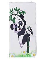 abordables -Funda Para Nokia Nokia 8 Soporte de Coche Cartera con Soporte Flip Magnética Funda de Cuerpo Entero Plantas Oso Panda Dura Cuero de PU TPU