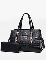 cheap -Women Bags PU Bag Set Zipper for Casual All Season Red Black Blue