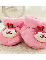 Недорогие -Дети обувь Флис Зима Осень Удобная обувь Обувь для малышей Ботинки для Повседневные Светло-желтый Розовый Светло-синий
