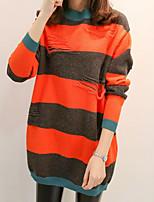 abordables -Tee-shirt Femme, Rayé simple