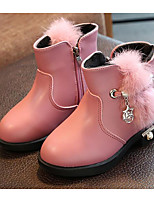 cheap -Girls' Shoes Synthetic Microfiber PU Winter Fall Comfort Fashion Boots Boots Booties/Ankle Boots for Casual Pink Red Black