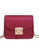 cheap -Women Bags PU Shoulder Bag Buttons for Casual All Season Purple Gray Blushing Pink Red Black