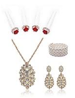 baratos -Mulheres Pauzinho de Cabelo Sets nupcial Jóias Gema Europeu Fashion Casamento Festa Imitação de Pérola Imitações de Diamante Liga Jóias