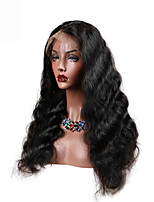 cheap -Human Hair Lace Front Wig Peruvian Hair Body Wave With Baby Hair 130% Density Unprocessed 100% Virgin Middle Part Natural Hairline Short