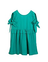 cheap -Girl's Solid Dress Summer Cute Green