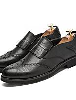 Недорогие -Муж. обувь Полиуретан Зима Удобная обувь для Повседневные Черный Серый Коричневый