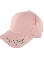 cheap -Women's Cotton Baseball Cap Sun Hat,Work Casual Solid Floral/Botanical All Seasons Stylish Embroidery White Black Blushing Pink