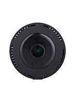 hd voller 1080p 180 Grad Panorama Weitwinkel Mini Kamera Smart ipc Wireless Fisheye IP Kamera P2P Sicherheit Wifi Kamera Fass für Schwarz
