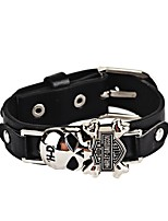 cheap -Men's Chain Bracelet , Vintage Casual Hiphop Leather Alloy Skull Jewelry Office & Career Street