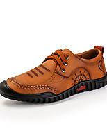 Недорогие -Муж. обувь Свиная кожа Весна Осень Удобная обувь Туфли на шнуровке для Повседневные Желтый Коричневый