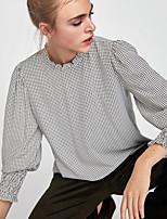 cheap -Women's Cotton Shirt - Polka Dot