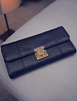 cheap -Women Bags PU Wallet Buttons Zipper for Casual All Season Gray Red Black