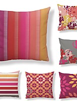 cheap -6 pcs Textile Cotton/Linen Pillow Cover,Floral Geometric Botanical