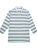 cheap -Women's Cotton T-shirt - Striped Shirt Collar