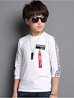 cheap -Boys' Solid Print Letter Tee,Cotton Spring Fall Long Sleeve Simple Cute Active Red Black White
