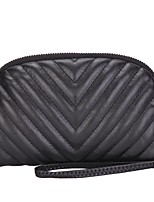 Women Bags PU Polyester Clutch Zipper for Casual All Season Gray Black Champagne