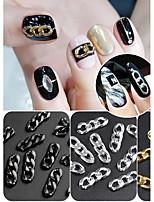 cheap -Decorating Tool DIY Tools Metallic Punk Silver Black Gold Chain Nail Art Tool Nail Art Design DIY