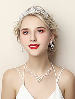 cheap -Women's Jewelry Set Rhinestone Fashion Wedding Birthday Alloy 1 Necklace Earrings