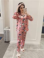 abordables -Costumes Pyjamas Femme Moyen Rayonne Fuchsia Bleu clair