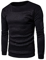 cheap -Men's Petite Daily Casual Sweatshirt Leopard Round Neck Micro-elastic Cotton Long Sleeve Spring/Fall Autumn/Fall