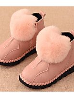cheap -Girls' Shoes Leatherette Winter Fall Comfort Snow Boots Boots Booties/Ankle Boots for Casual Pink Red Black