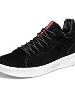 Недорогие -обувь Полиуретан Весна Осень Удобная обувь Кеды для на открытом воздухе Черный Серый Коричневый