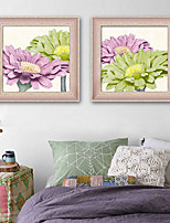 cheap -Botanical Floral/Botanical Illustration Wall Art,PVC Material With Frame For Home Decoration Frame Art Living Room Bedroom Kitchen Dining