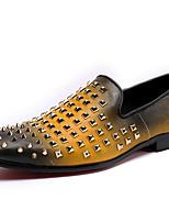 Недорогие -Муж. обувь Наппа Leather Весна Осень Удобная обувь Формальная обувь Мокасины и Свитер Заклепки для Повседневные Для вечеринки / ужина