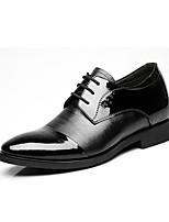 baratos -Homens sapatos Pele Real Primavera Outono Sapatos formais Oxfords para Festas & Noite Preto