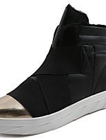 cheap -Men's Shoes PU Spring Fall Comfort Sneakers for Casual Black/White Red Black/Gold