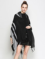 cheap -Sleeveless POLY Party / Evening Office / Career Tassel Shawls