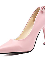 cheap -Women's Shoes PU Spring Fall Comfort Heels High Heel Pointed Toe for Casual Almond Pink Red Black