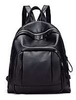 cheap -Women Bags PU Backpack Zipper for Casual All Season Black