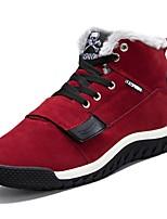 Недорогие -Для мужчин обувь Полиуретан Весна Осень Удобная обувь Кеды для Повседневные Черный Красный Синий