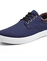 Недорогие -Для мужчин обувь Полотно Весна Осень Удобная обувь Кеды для Повседневные Черный Серый Синий