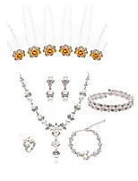 cheap -Women's Hair Sticks Bridal Jewelry Sets Rhinestone Fashion European Wedding Party Imitation Pearl Imitation Diamond Alloy Body Jewelry 1