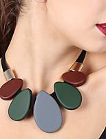 cheap -Women's Drop Heart Oversized Choker Necklace Pendant Acrylic Acrylic Cloth Choker Necklace Pendant , Party Prom