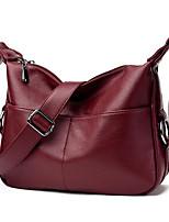 cheap -Women Bags PU Polyester Shoulder Bag Zipper for Casual All Season Wine Purple Black Blue