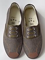 Недорогие -Для мужчин обувь Ткань Весна Осень Удобная обувь Кеды для Повседневные Серый