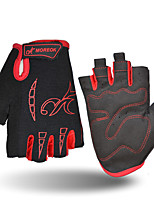 Недорогие -Спортивные перчатки Перчатки для велосипедистов Дышащий Анти-шоковая защита Без пальцев Нейлон Универсальные