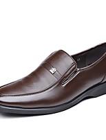 baratos -Homens sapatos Couro Ecológico Primavera Outono Sapatos formais Sapatos de mergulho Mocassins e Slip-Ons para Casual Preto Marron