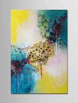 cheap -Hand-Painted Abstract Vertical, Simple Modern Canvas Oil Painting Home Decoration One Panel