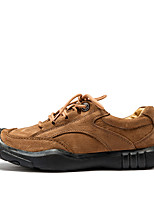 cheap -Shoes Cowhide Leather Spring Fall Comfort Sneakers for Casual Black Brown Khaki
